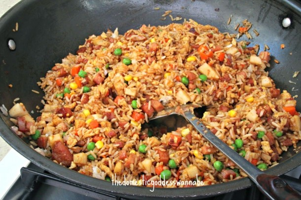 Luncheon Meat Fried Rice 1