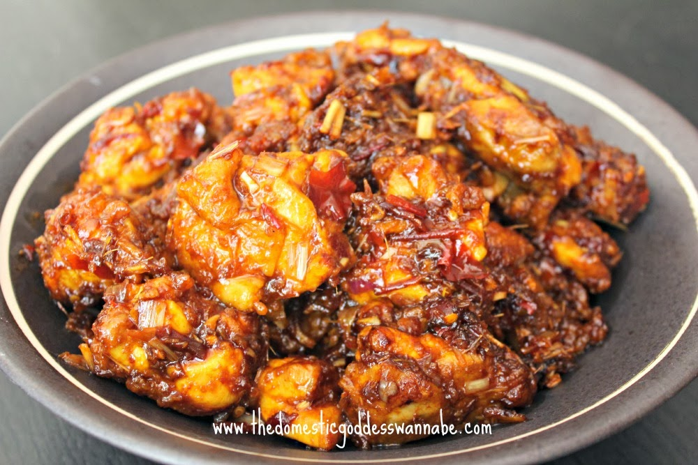 chicken with lemongrass and sambal oelek