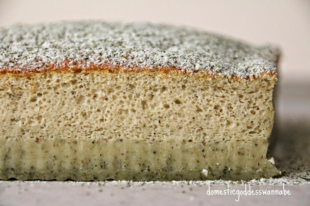 Matcha Magic Custard Cake