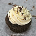 nutella cupcakes with cream cheese swiss meringue buttercream and cacao nibs