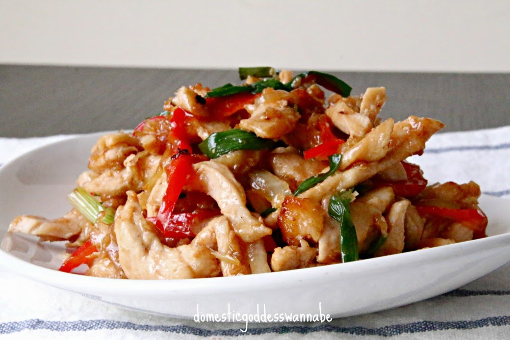 Thai ginger chicken stir fry gai pad khing the domestic thai ginger chicken stir fry gai pad khing forumfinder Image collections