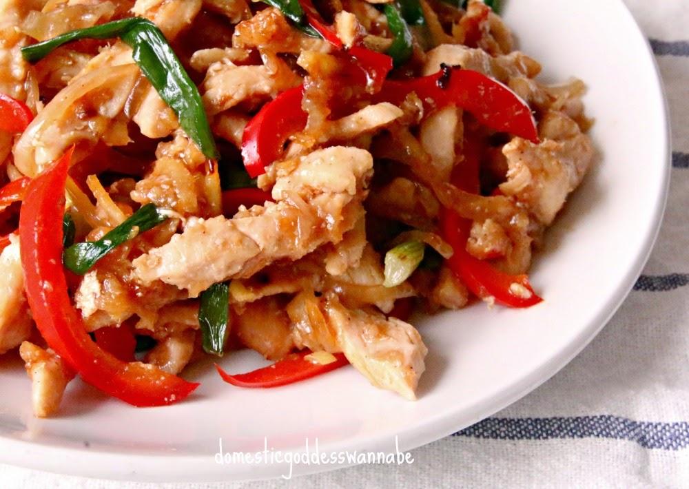 Thai ginger chicken stir fry gai pad khing the domestic goddess thai ginger chicken stir fry gai pad khing forumfinder Images
