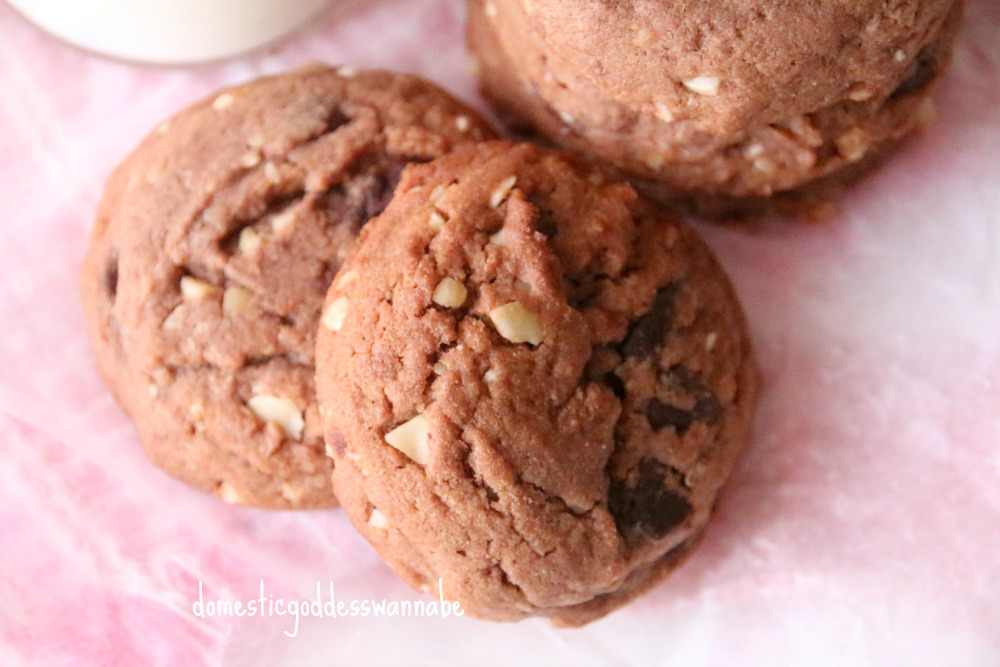 Chocolate Nutella Nut Cookies Recipe — Dishmaps