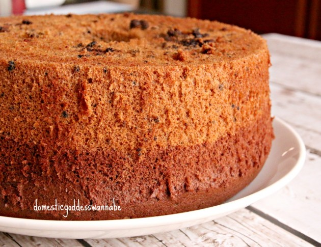 Domestic Goddess Chocolate Chiffon Cake