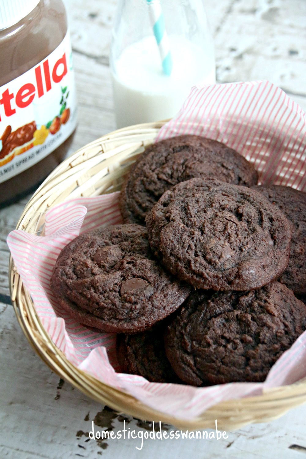 chewy nutella chocolate chip cookies | The Domestic ...