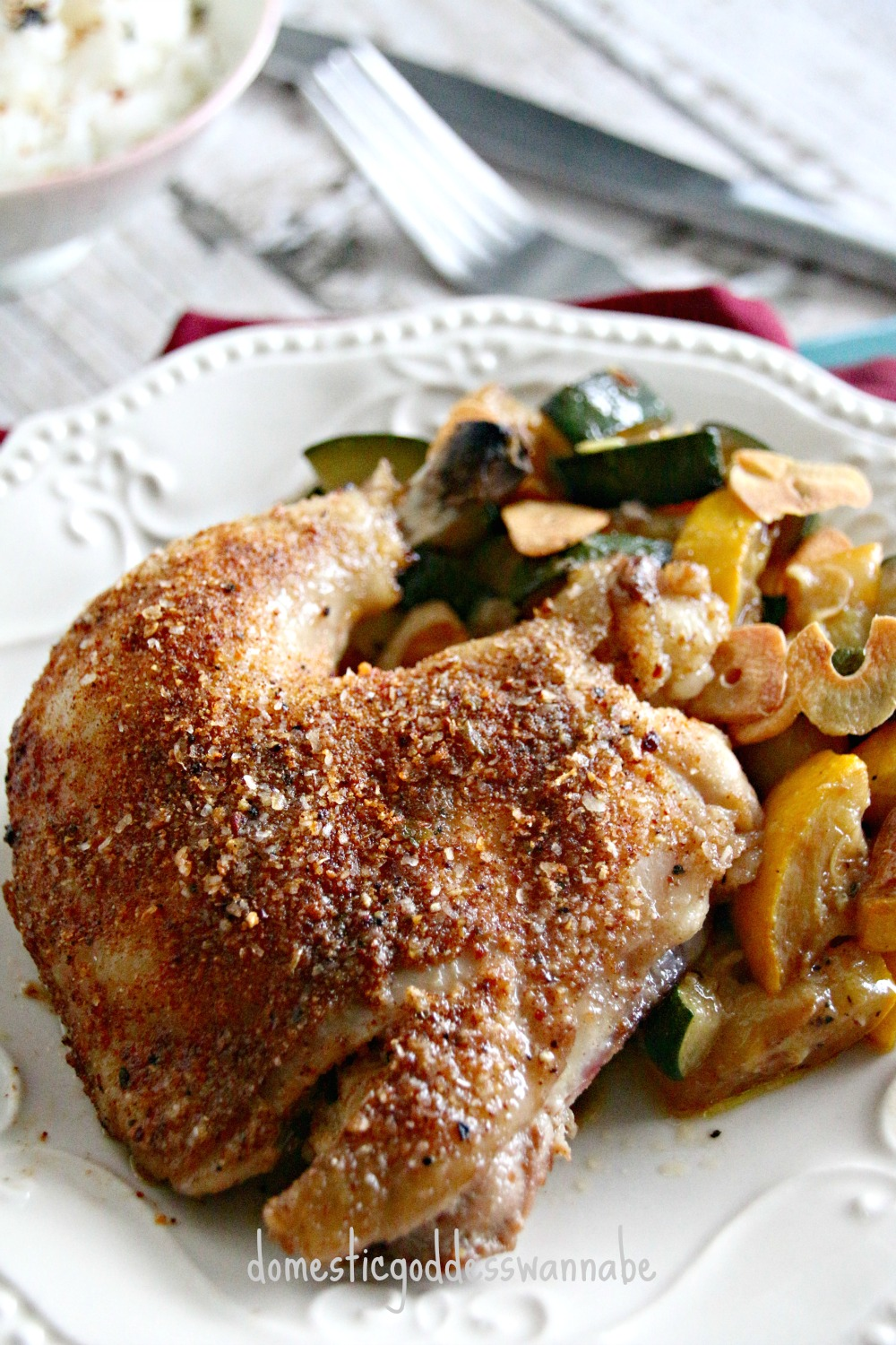 Roasted Chicken With Paprika Spice Rub The Domestic