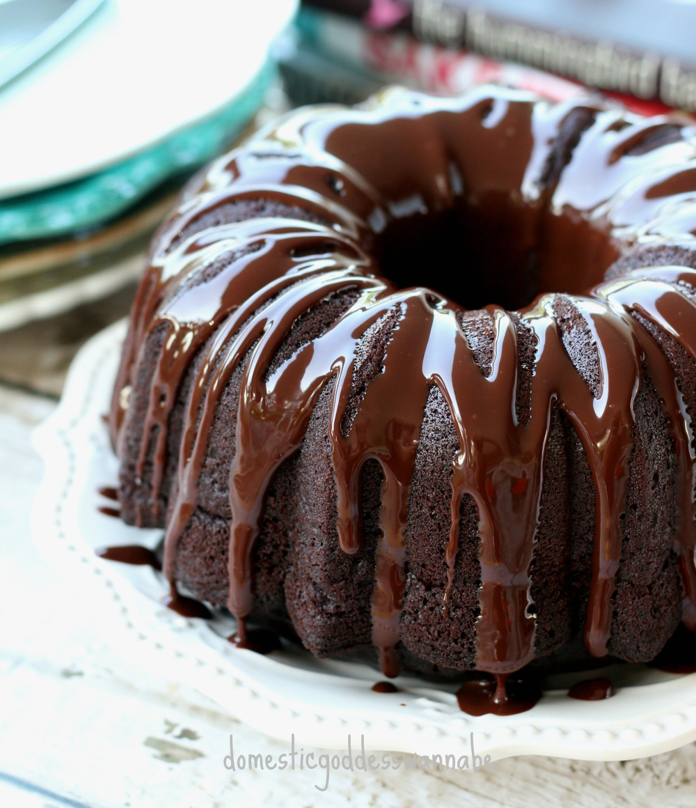 Chocolate Cake With Chocolate Gananche